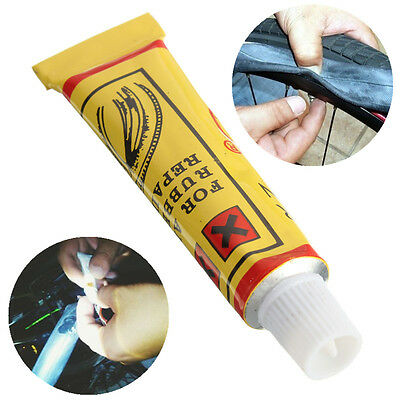 10g Bike Bicycle Tire Tyre Rubber Patches Mend Repair Tube Glue Fix Tool