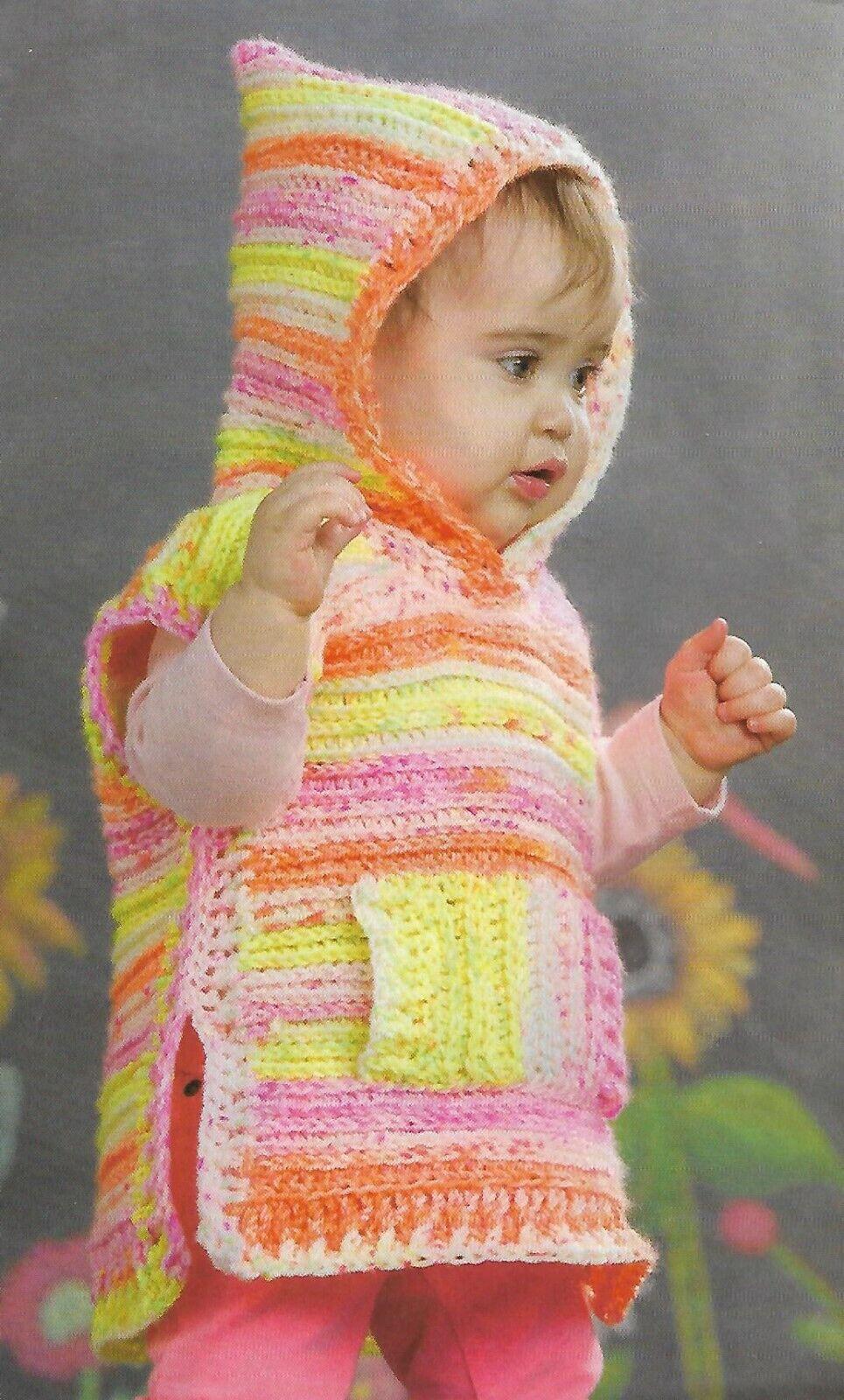 Pop-on Poncho Cavendish Crochet Pattern//Instructions Leaflet NEW
