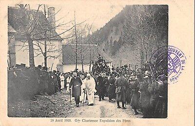 Cpa 38 Grande Chartreuse Expulsion Des Peres 1903 Paquetes De Moda Y Atractivos
