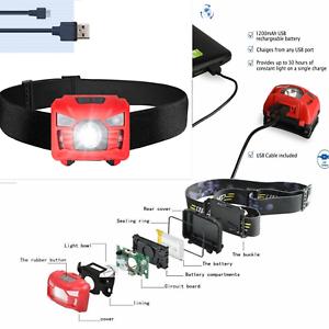 90000LM 5X T6 LED Headlamp Rechargeable Headlight Light Flashlight Torch Lamp