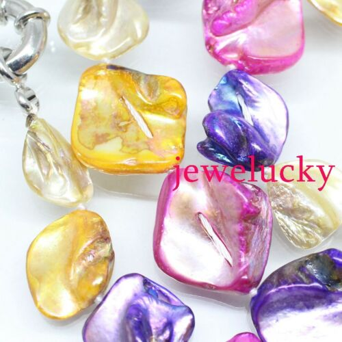 New jewelry necklace 30 inches Multi-Color Baroque mother of pearl shell