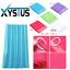 Shower Curtain with 12 Hook Ring Set Splash Resistant 180cm x 180cm