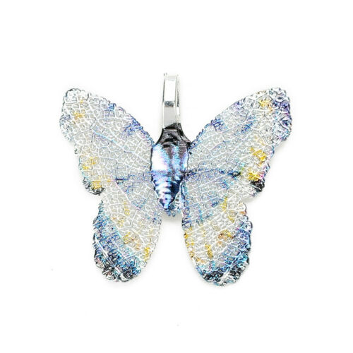 2pcs Mixed Assorted Natural Leaf Brass Butterfly Pendants Charms DIY Accessories