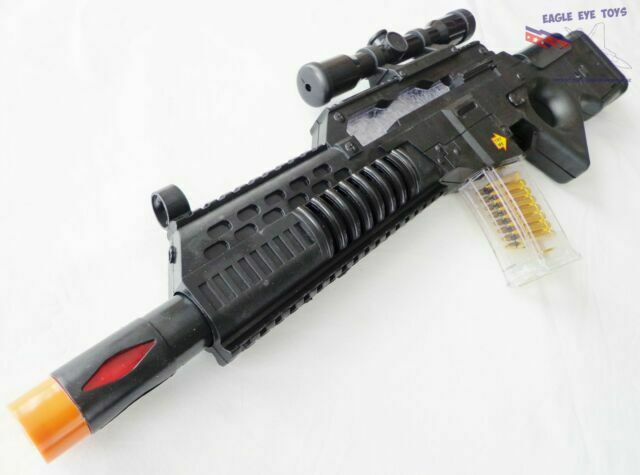 Army Military Assault Guns//Rifle MP7A1 with Flashing Lights /& Sound Toys