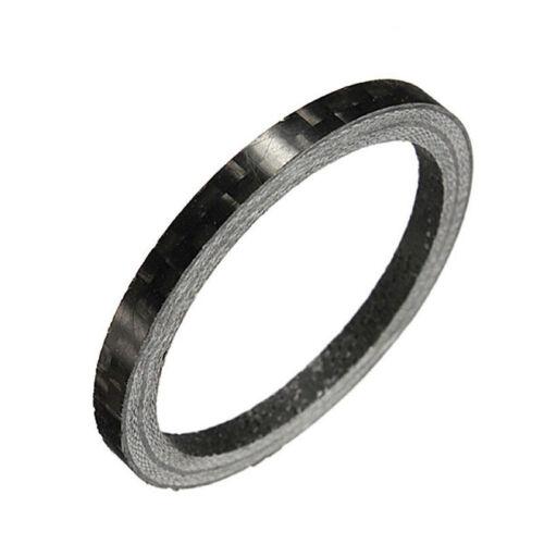 """Bicycle Carbon Fiber Washer Headset Stem Spacer 3//5//10//15//20//25mm 1 1//8/"""" Black"""