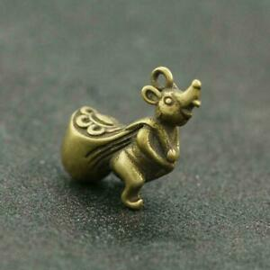 Chinese-Brass-Mouse-Statue-Rat-Back-Money-Bag-Pendant-China-Zodiac-Pocket-Gift