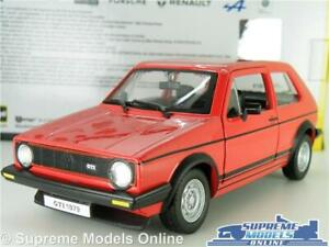 VOLKSWAGEN-GOLF-GTI-MK1-MODEL-CAR-1-24-SCALE-RED-BURAGO-OPENING-PARTS-VW-LARGE-T