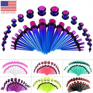 36pcs-Lot-Ear-Stretching-Kit-Expander-Ear-Gauge-Tapers-Ear-Plugs-Acrylic-14G-00G