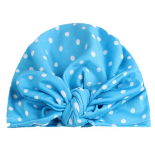 Toddler Newborn Baby Girls Boy Turban  Knot Comfy Headwrap Beanie Bow Hats Cap