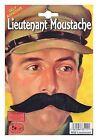 Lieutenant Moustache - Fancy Dress Accessory Black Tash Army Soldier Officer
