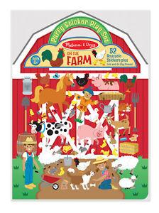 Melissa & Doug Farmyard Scene Inside Puffy Sticker Play Set #9408  New