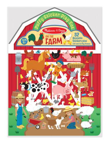 Melissa /& Doug Farmyard Scene Inside Puffy Sticker Play Set #9408  New