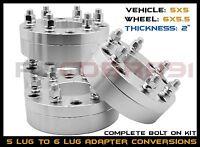 4 Pc Chevy Gmc 6 Lug Wheels On Older Chevy Gmc 5 Lug Trucks