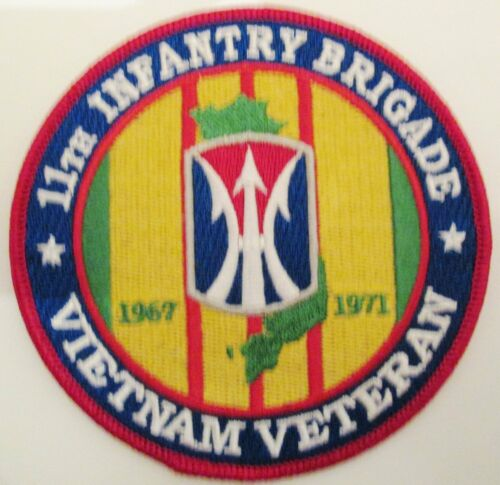 11TH INFANTRY BRIGADE VIETNAM VETERAN 4 INCH ROUND PATCH. 2 PATCHES PER ORDER