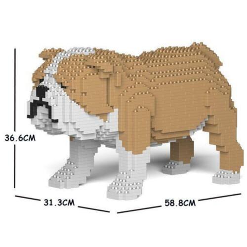 JEKCA Animal Building Blocks Kit for Kidults English Bulldog 01C-M03