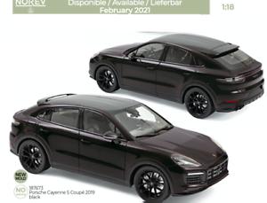 1//18 Norev Porsche Cayenne S Coupé 2019 Black Livraison Domicile Février//Mars
