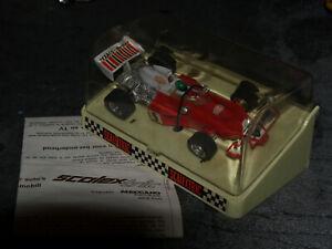 SCALEXTRIC-C120-Mc-LAREN-M23-TEXACO-MARLBORO-N-5-moteur-OK-boite-amp-notice