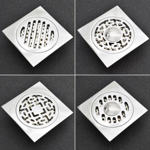 1pc Silver Drain Brass Floor Chromium Bathroom Square Shower Waste Water Drainer