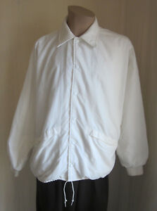 PLA-JAC-by-Dunbrooke-Mens-VINTAGE-White-Golf-Windbreaker-Jacket-L-Large-44-46