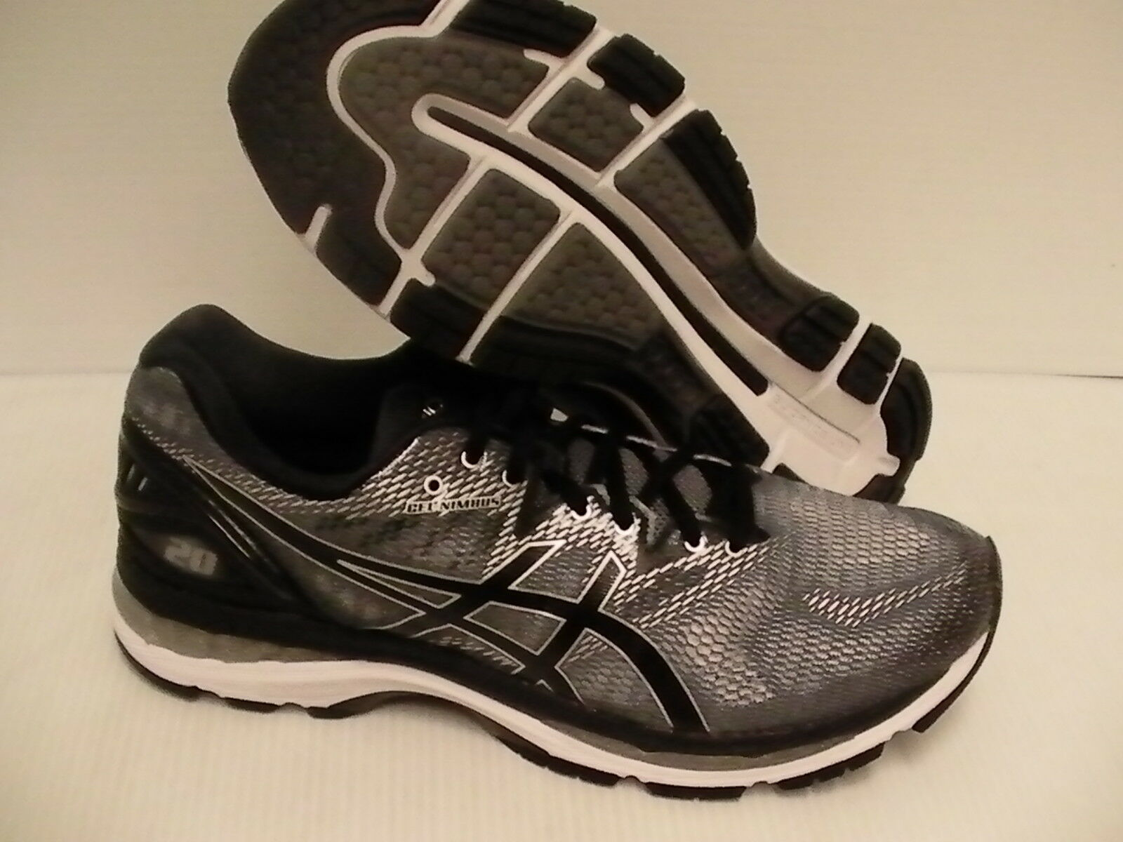 Asics men's running shoes gel nimbus 20 carbon black silver size 9.5 us