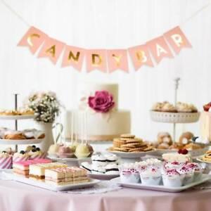 Candy-Bar-Papier-Banniere-Mariage-Anniversaire-Festival-Fete-De-Noel-Decoration