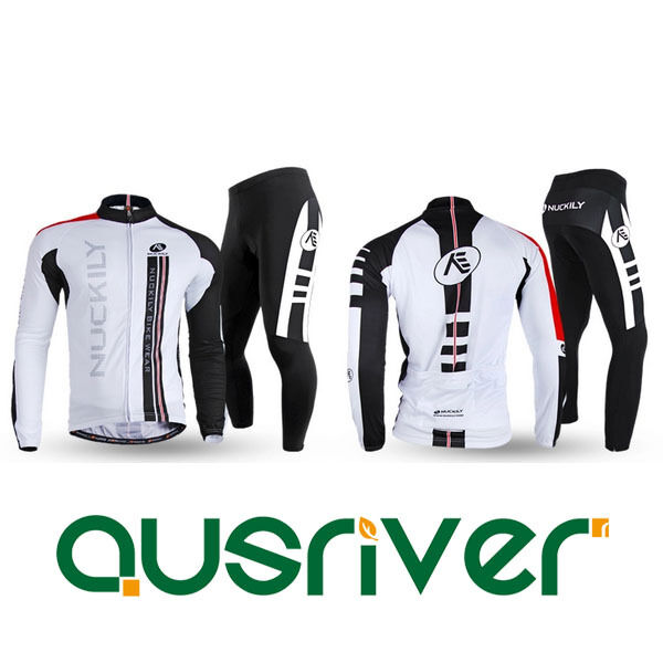 Hommes Bicycle Clothes manche longue Shirt Jersey courtes Pants Cycling Suit Set