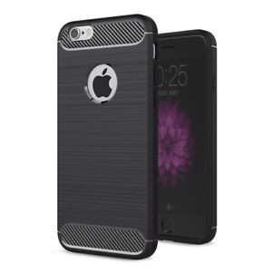 Apple-iPhone-6s-Plus-TPU-Case-Carbon-Fiber-Optik-Brushed-Schutz-Huelle-Schwarz