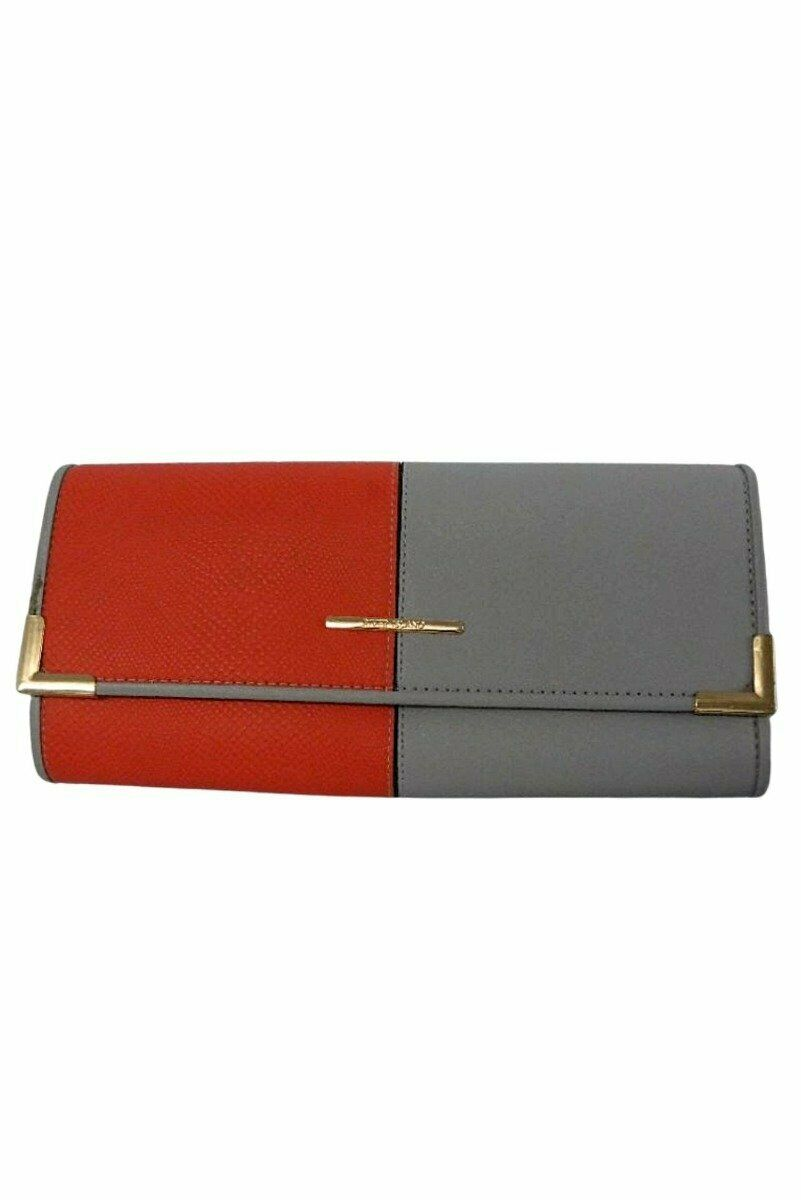 River Island Orange and Grey Large Clutch - One Size