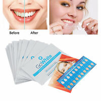 28pcs Professional 3D GO Effects Teeth Whitening Strips Bleaching Whitestrips