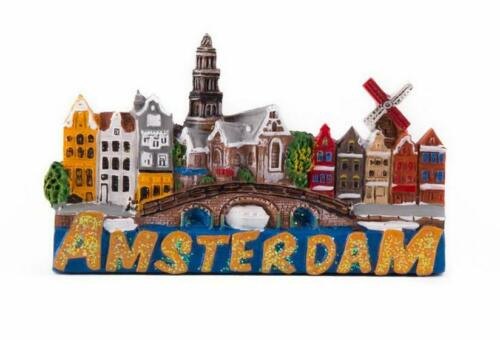 Amsterdam Magnet Windmühle Poly Holland Niederlande Souvenir (6752)