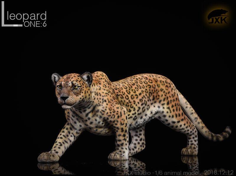 Jxk. studio jxk009c der leopard gelbe panther tier - modell mit fluoresced augen