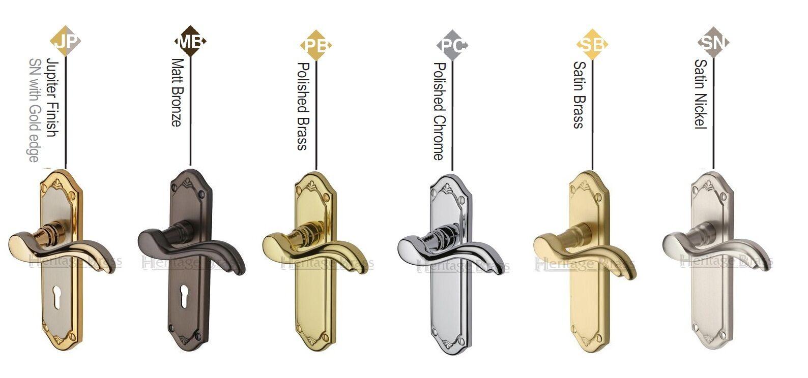 Heritage Brass - MM99 -  Lisboa Design Door Handle - 175mm x 48mm x 11mm