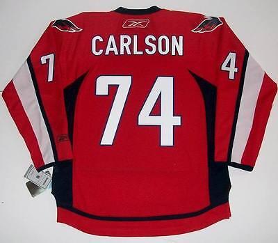 JOHN CARLSON WASHINGTON CAPITALS REEBOK HOME NHL PREMIER JERSEY NEW WITH TAGS   eBay