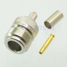 1pce Connector N male plug crimp RG58 RG142 LMR195 RG400 RF COAXIAL DC 0-6GHz