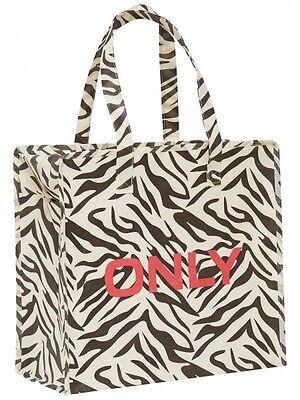 ONLY Tasche Zebra Schultertasche Shopper Shopping Bag