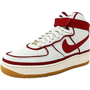 8e08989d2a Nike Mens Air Force 1 Red Leather Upper Rubber Sole High  07 ...