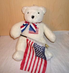 """Proud of the USA"" Plush White Bear"