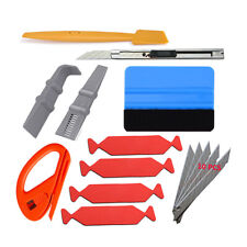 Car Wrap Vinyl Tools Kit 8 Film Wrapping Carbon Fibre Squeegee Safety Cutter AUS