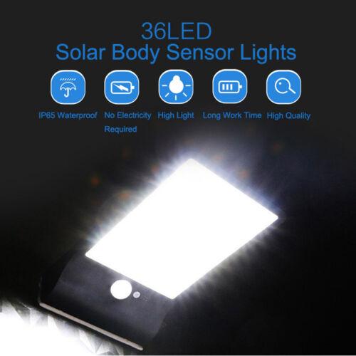 36 LED Solar Lampe Solarleuchte mit PIR Bewegungsmelder Gartenlicht Wandleuchte
