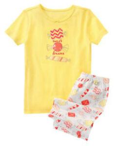 Clothing, Shoes & Accessories Sleepwear Nice Nwt Gymboree Gymmies Sweet Dreams Hard Candies Snug Fit 2pc S/s Pajamas Pj's