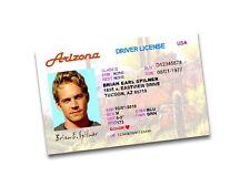 Fast and Furious Paul Walker, Brian Earl Spilner Arizona DL Replica Prop