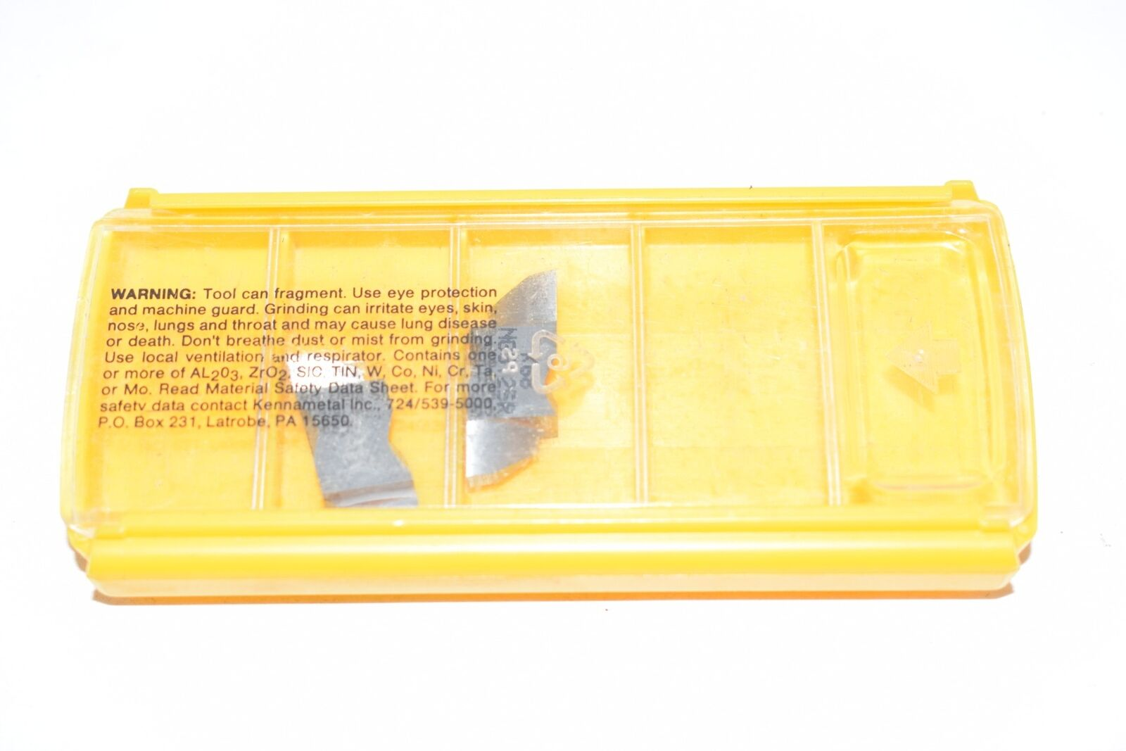 Kennametal carbide insert NG3125R K68 Top Notch Grooving Insert Pack Of 5