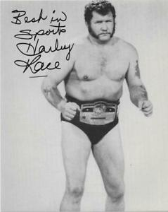 Harley Race Autographed Wrestling 8x10