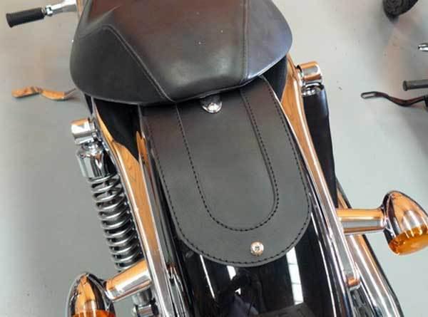 Copri parafango posteriore in pelle per Harley Davidson Sportster