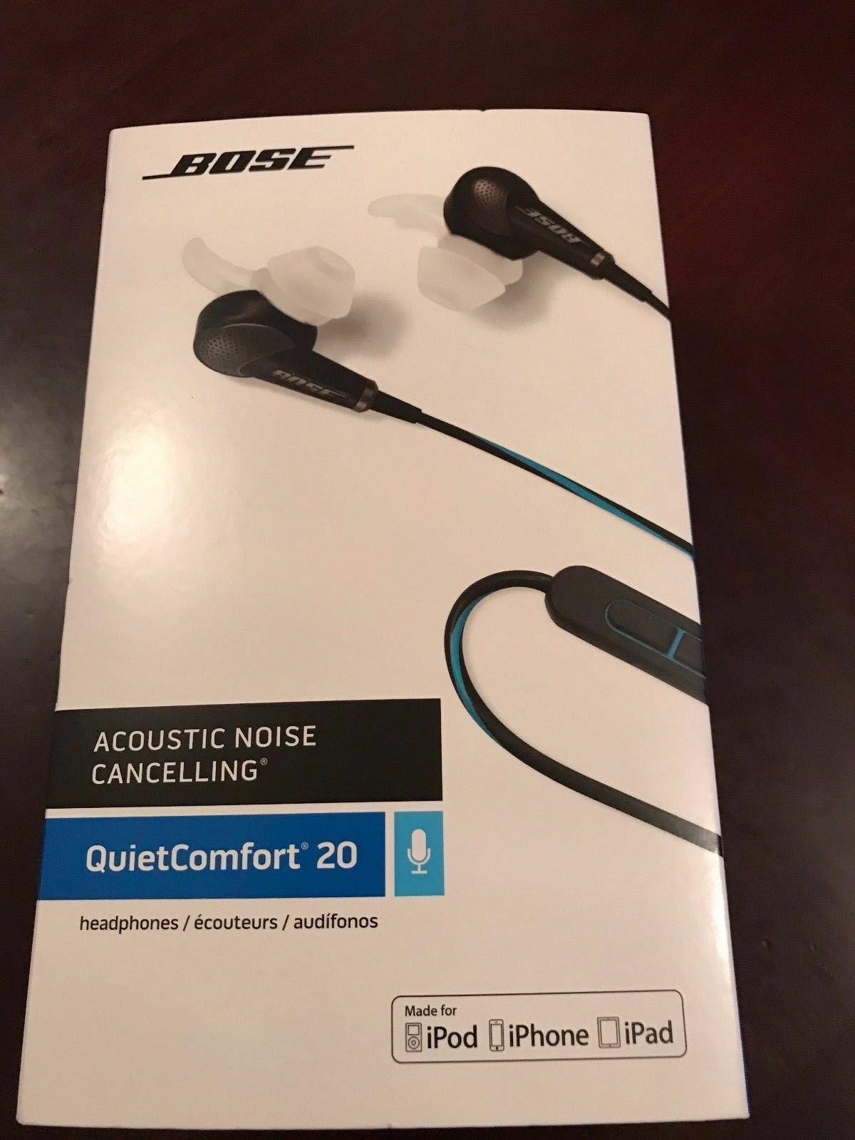 55de6bb38e1 Bose Qc20 QuietComfort 20 Acoustic Noise Cancelling Headphones Apple ...