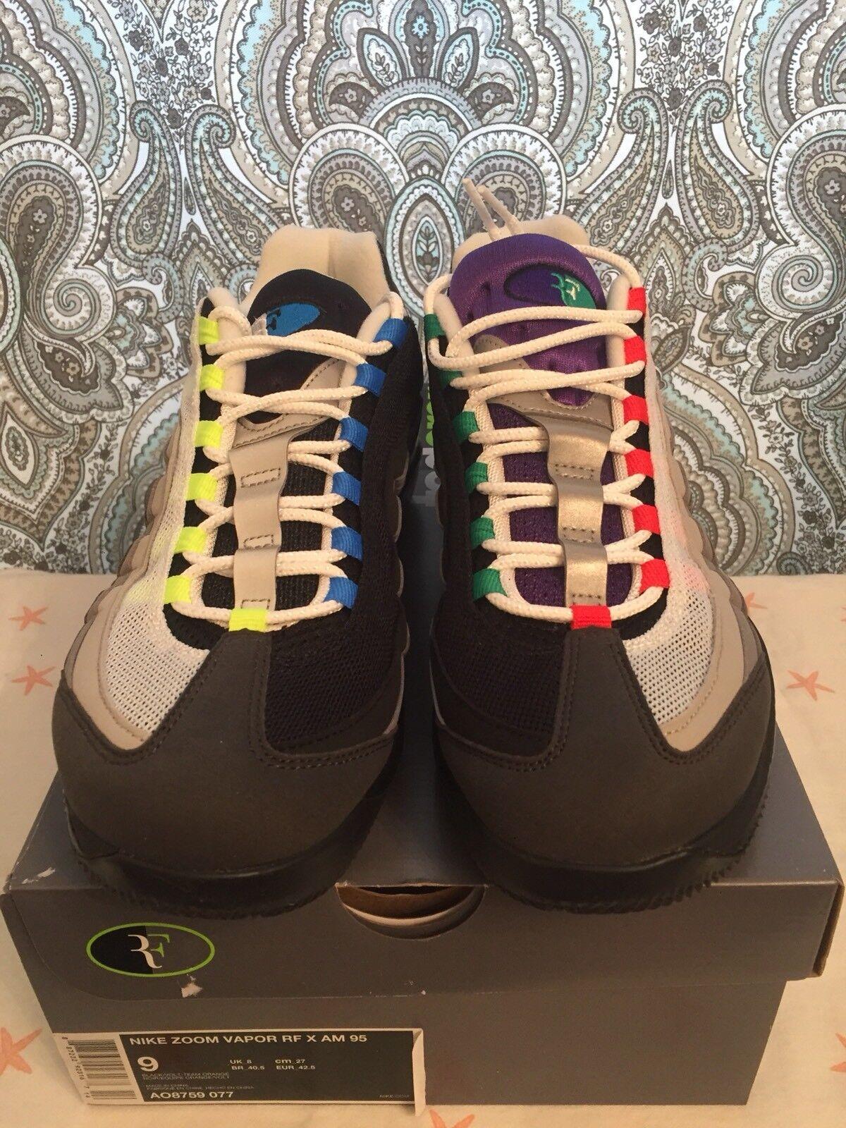 Nike Zoom Vapor RF x AM 95 Black Volt Team Orange Greedy AO8759 077 Sz 9 Seasonal clearance sale