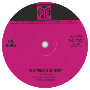 The-Kinks-Waterloo-Sunset-record-label-vinyl-sticker-Pye-records