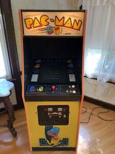 RARE ORIGINAL 1980's PAC-MAN Arcade Machine Vintage Working W/ manuals & Key