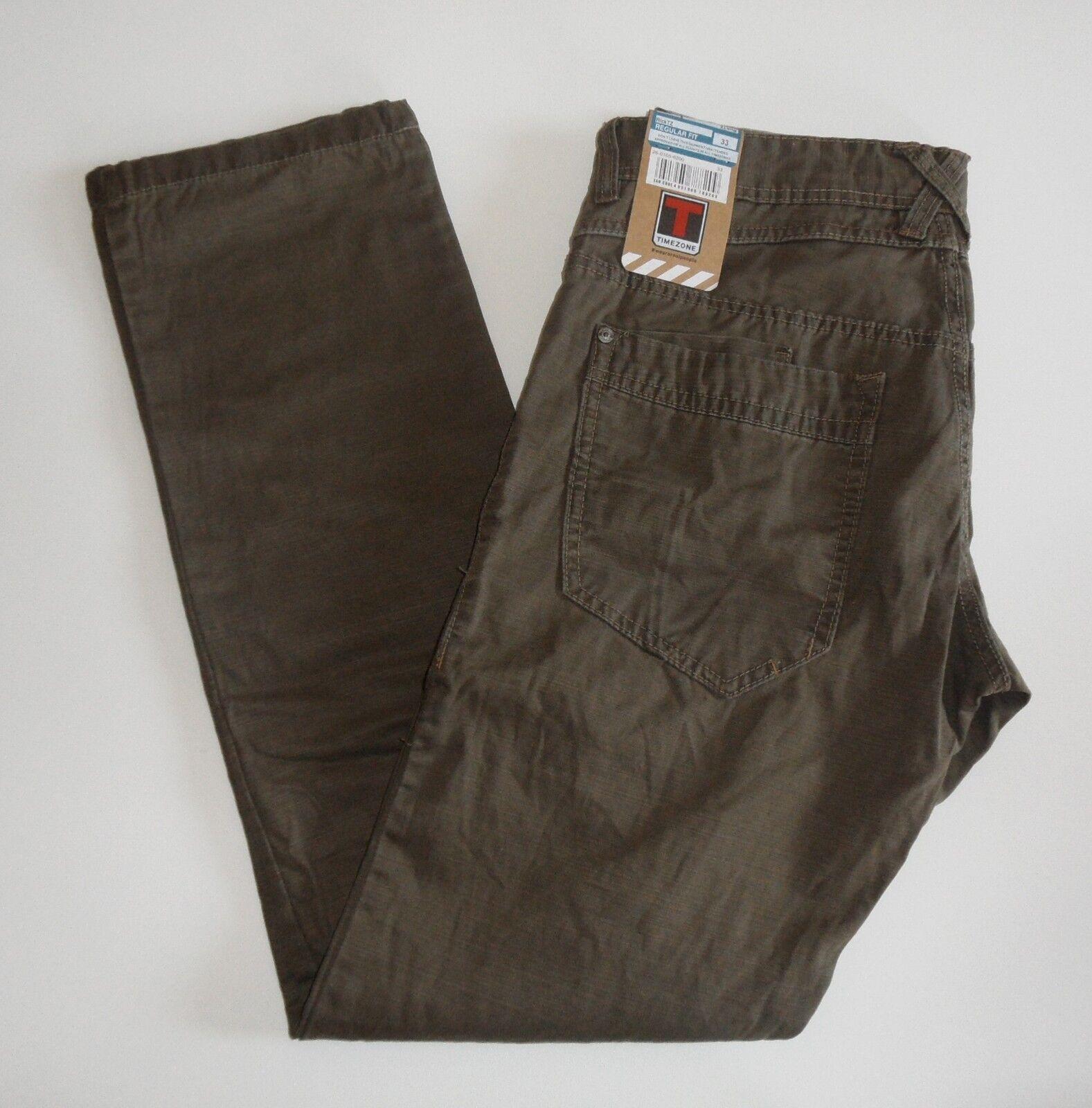 TIMEZONE Uomo Worker Pantaloni Rick 26-0105 Dark Dark Dark Earth 6200 diverse dimensioni 836b34