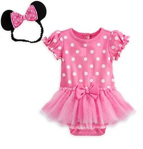 cd2288bd3 Disney Store Minnie Mouse Baby Costume Outfit & Headband Size 3 6 9 ...